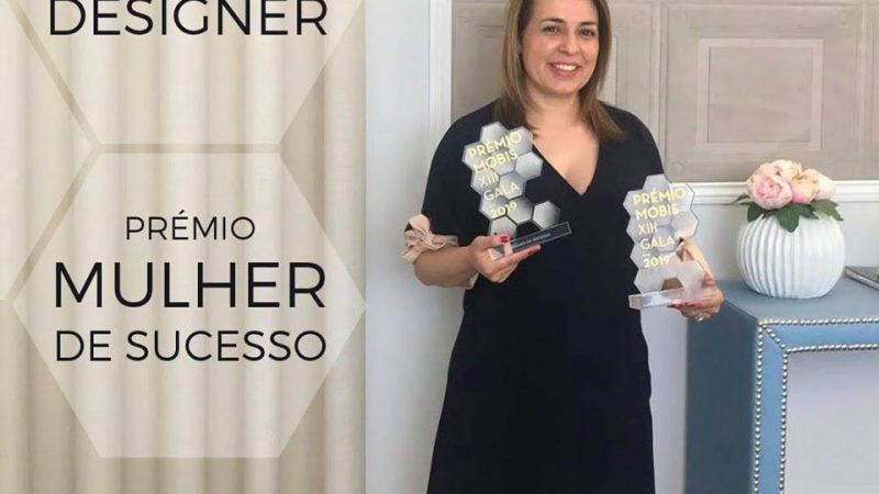 Ângela Pinheiro distinguished with the 'Successful Woman' and 'Best Designer' Mobis awards